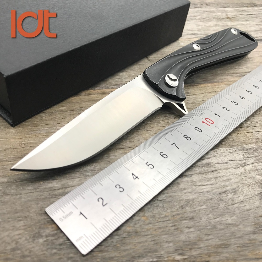 LDT Mad Flow Tactical Folding Knife D2 Blade Titanium TC4 Handle Knives Camping Knife Hunting Outdoor Pocket Survival EDC Tools зеркало misty грация п гра02090 011