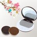 1 pcs Espelho + pente Portátil bonito chocolate biscoito maquiagem lady menina Frete Grátis