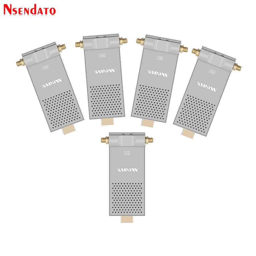 купить Air Prime4 200M/656FT 5.8GHz Wireless WIFI HDMI Audio Video IR Extender Transmitter 1 Sender 4 Receiver Kit For PC HDTV DVD Play по цене 102744.9 рублей