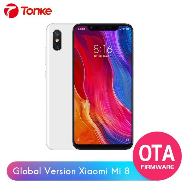 "Orinigal Firmware Global Xiaomi mi 8 Snapdragon 845 6GB RAM 64 GB ROM Octa Core 6,21 ""2148x1080 P soporte para teléfono móvil OTA"