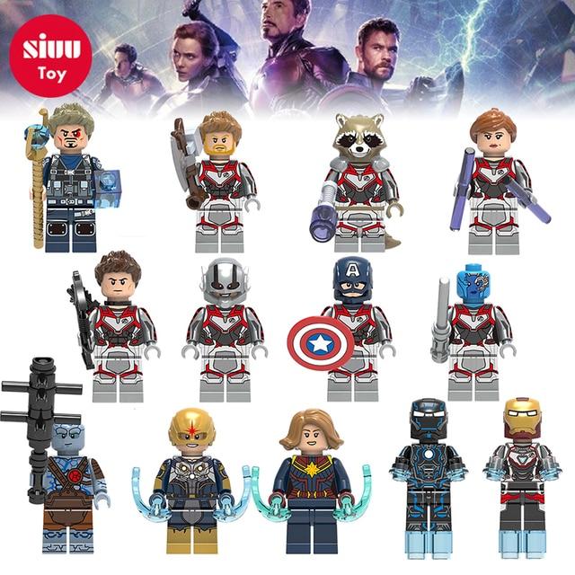 Nova The Avengers 4 LegoING Maravilhas Building Blocks Super Heroes Homem De Ferro Hulk Spiderman Compatível com Legoly brinquedos para as crianças