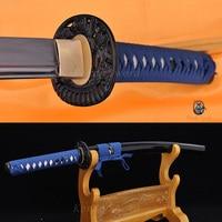 1060 High Carbon Steel FullTang Blade MusashiTsuba Japanese Samurai Sword Katana
