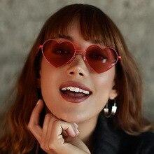 FOOSCK Brand Designer Vintage Fashion Love Heart Sunglasses Women