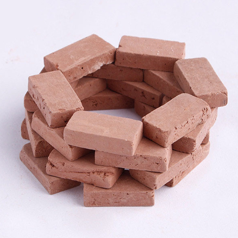 50PCS Durable Kids Portable Landscape DIY Simulation Brick Diorama Decorative Building Modelling Miniature Scenery Sand Table #