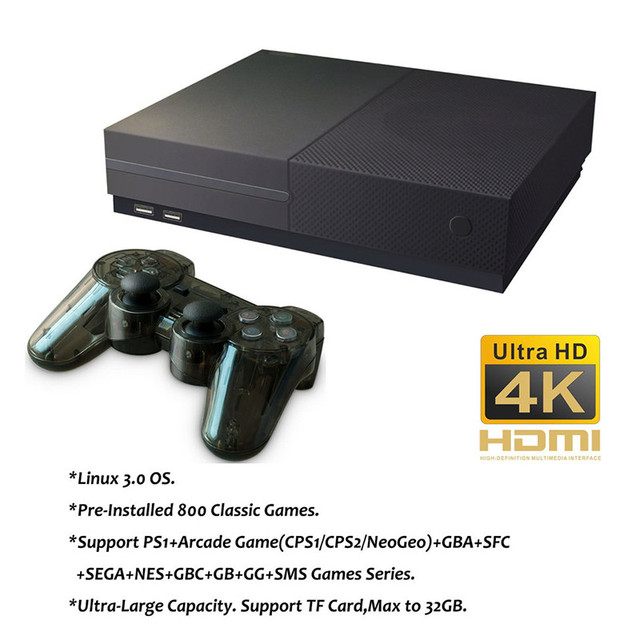 Retro Games 64 Bit X Pro Built in 800 Classic Games Support 4K HDMI /AV out Video Game Console to TV for family 1