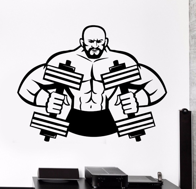 Aliexpress.com : Buy Fitness Gym Wall Decal Sport Muscle ...