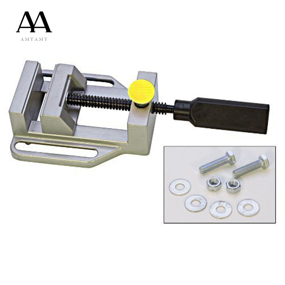 Amyamy Drill Press Vise For Drill Press Stand Power Tool Parts Mini Vice Flat Pliers Mini Bench