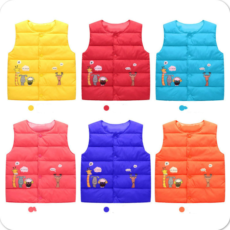 The children down cotton vest small children thin baby liner children warm