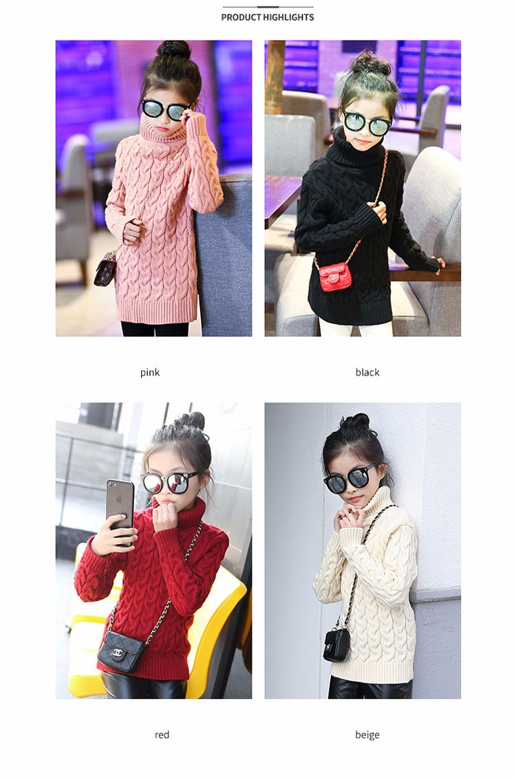 2017 new high neck long knitting girls sweater spring autumn winter turtleneck knitted children sweaters kids girls thick red black beige pink tops 7 8 9 10 11 12 13 14 15 years little big teenage girls sweater winter casual children (1)