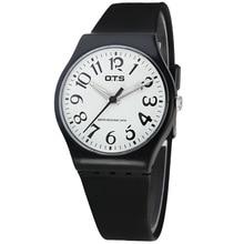 OTS Relógio Ocasional Genebra relógio De Quartzo Unisex femme Relogio feminino relógios de Silicone relógios de pulso Analógico Relógios Desportivos de Silicone