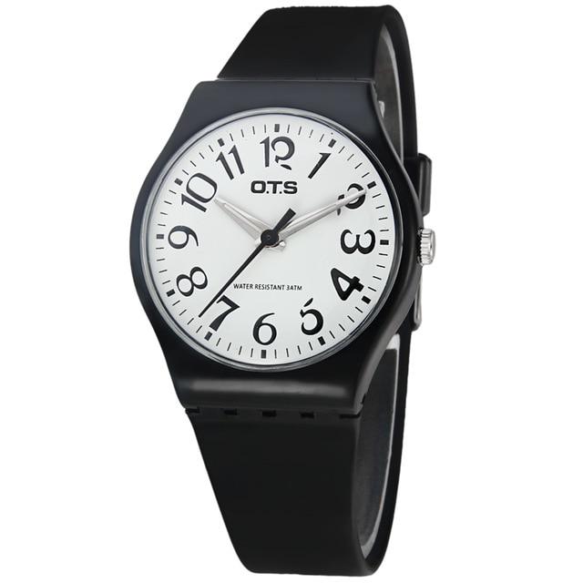 OTS Casual font b Watch b font Geneva Unisex Quartz font b watch b font Silicone