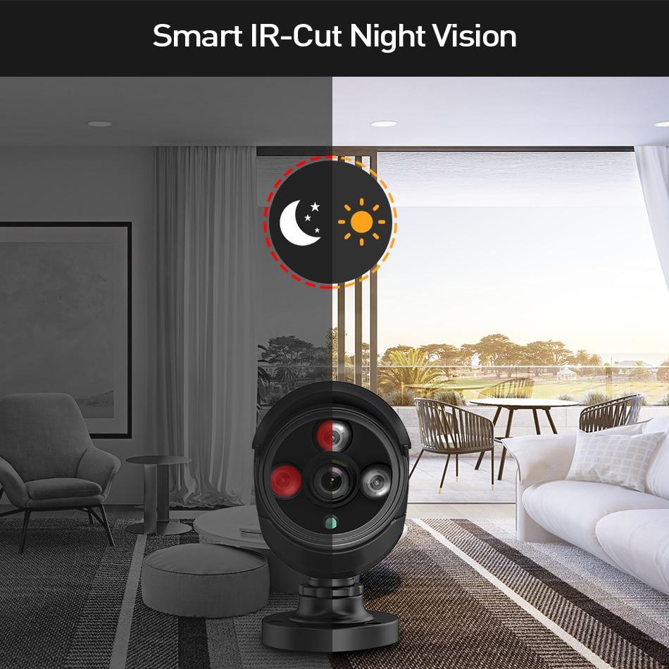 2MP 8CH Draadloze 1080P NVR CCTV Camera Systeem kit IP Wifi Camera Zwart 3TB HDD Outdoor Nachtzicht beveiligingssysteem Hiseeu H.265-in Bewakingssysteem van Veiligheid en bescherming op  Groep 2