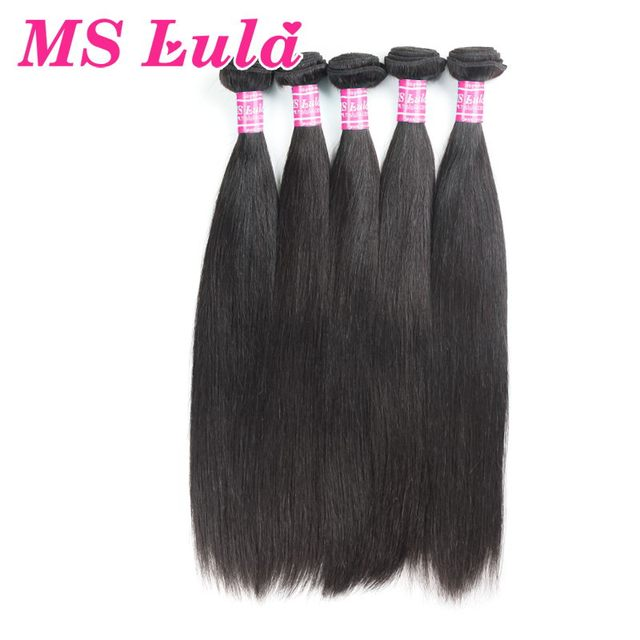 Free Shipping 5pcs lot Free Shipping Virgin brazilian straight hair 100 human hair weft full and thick Ms Lula hair