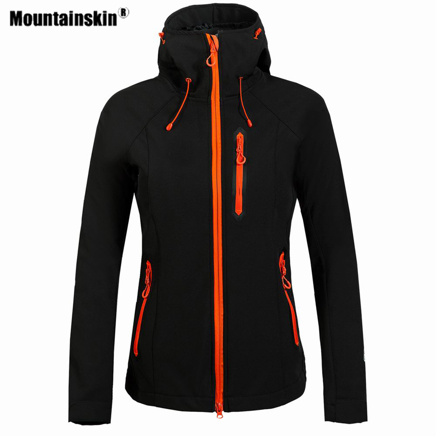 mountainskin caminhadas das mulheres softshell velo jaqueta esporte ao ar livre a prova de vento escalada