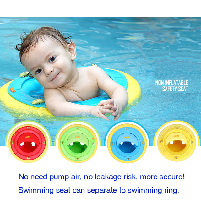No need pump air More Safety Swimming Seat Swim Ring Free inflatable Quality Baby kid child Swimming seat ring christmas gift