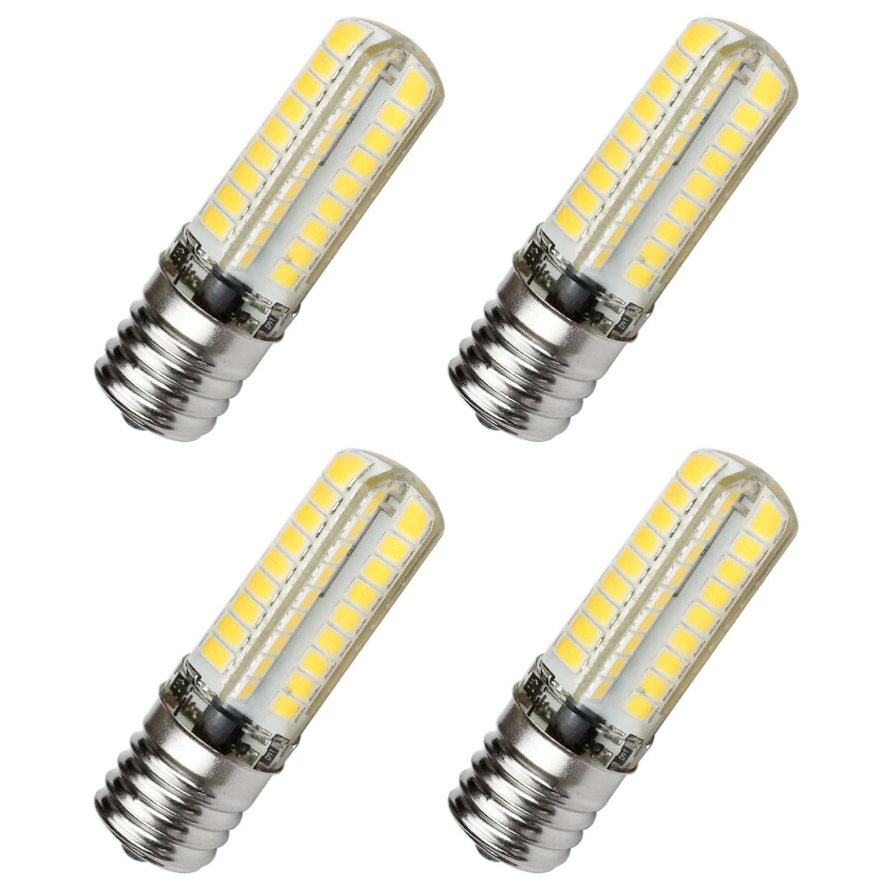 E17 LED BULB Dimmable 110V 5W Equivalent 45W E17 Halogen Lamp Warm White 3000K Microwave Oven Light Silicone 72X2835SMD 4PCS 15w dimmable led br40 light bulb e27 e26 screw base wide beam angle 120 degrees 100w halogen bulb equivalent