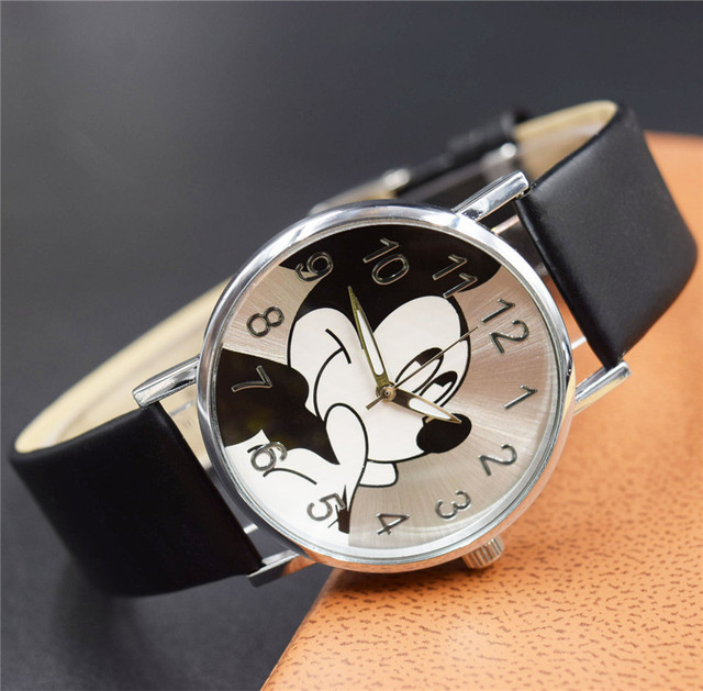 2019 Luxury Top Brand Watches Women Lovely Mouse Cartoon Kids Watch Quartz Wrist