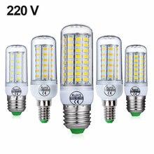 E27 светодиодный светильник e14 лампы smd5730 220v кукурузы