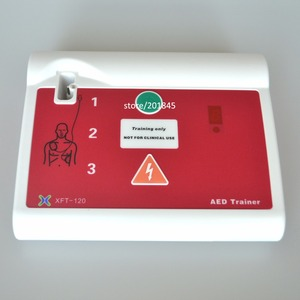 Image 4 - אישור CE חולים אוטומטיים חיצוני AED/סימולציה הכשרה בעזרה ראשונה מכשיר עם Pad באנגלית והונגרי