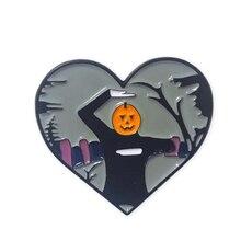Скелет нить танец Джек O фонарь тыква заколка на Хеллоуин Spoopy значок