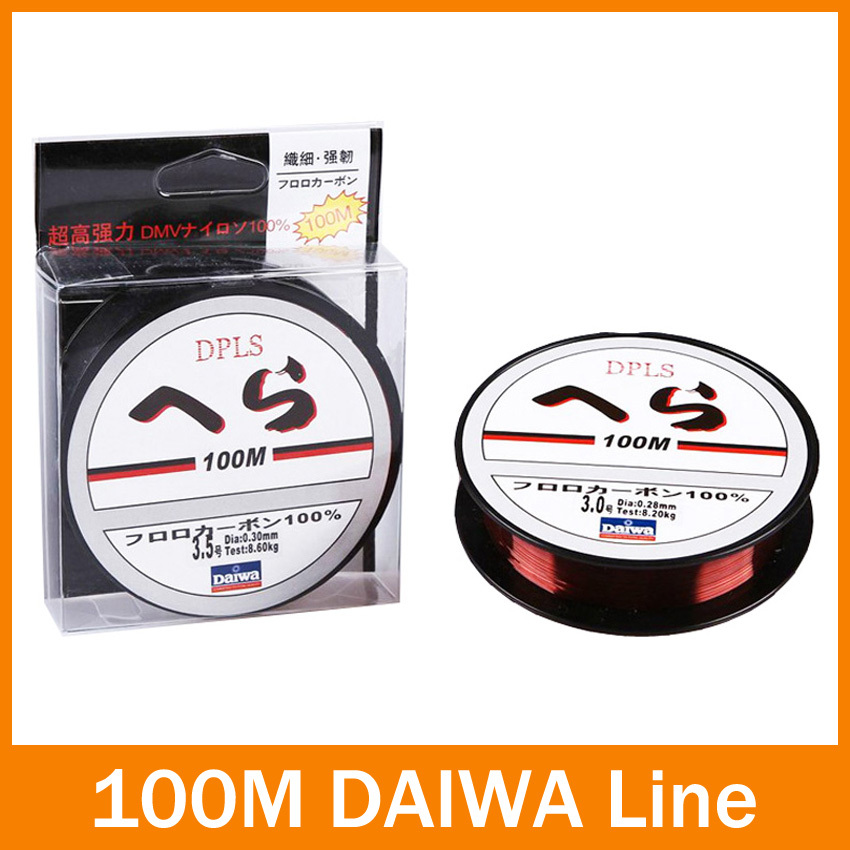 100 meters 1 pcs / lot japaness nilon pancing Brown transparan 0.6 # 1 # 1.5 # 2.5 # 3.5 # 5 # untuk memancing abrasi keras