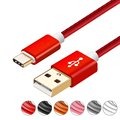 Original 0.25m/1m/2m/3m Type C Cable PU Leather Charger Data Sync USB C cable For Xiaomi 4C Nokia N1 Nexus 5X/6P Samsung