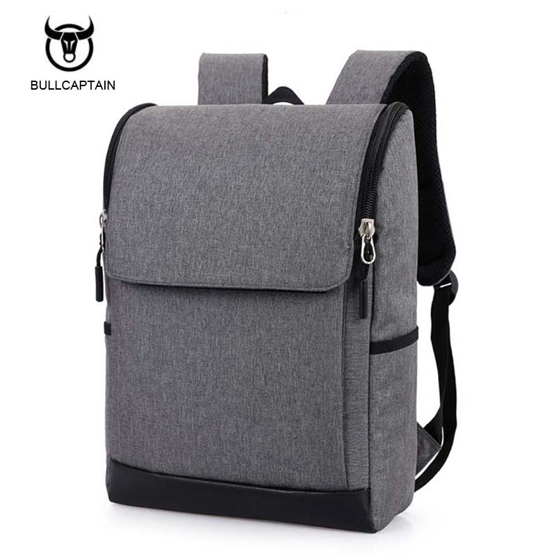 Bullcaptain Business Travel Laptop Men Backpack 15.6 inch Multifuntion Bag School Bags Waterproof Canvas Notebook Backpacks