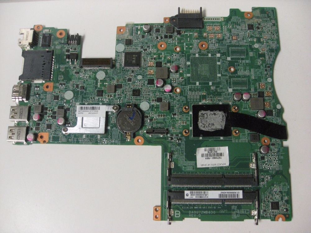 727202-501 727202-001 Free Shipping FOR HP PAVILION TOUCHSMART 14-F Laptop Motherboard DA0U72MB6D0 REV:D A8-5545M 100% tested