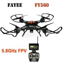 Professionnel télécommande drone FY-560 2.4G 6-Axis Gyro 5.8G FPV RC Quadcopter avec 2.0MP Caméra Sans Tête Mode 360 roulant