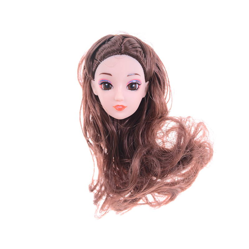 Dolls Accessories New 3d Supersize Head For Doll Nake Joints Body Head Toy Eyes Doll Head With Curly Hair For 1/6 Bjd Diy Head Acrylic Eyes Comfortable And Easy To Wear Toys & Hobbies