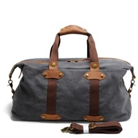 Hot Vintage Military Canvas Crazy Horse Men Travel Bags Carry On Luggage Bags Men Duffel Bag