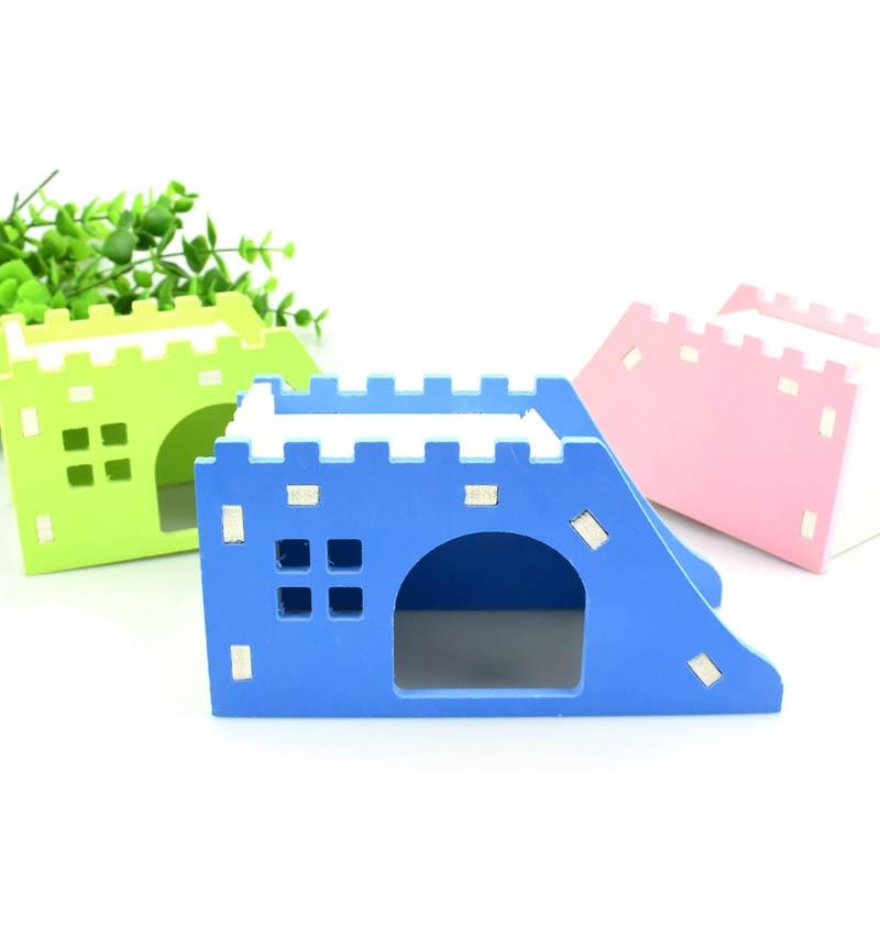Pet Hedgehog Castle Toy Pet House Viewing Deck Ladder Pet Products 1 PC Hamster House Hamster Nest Wooden
