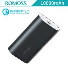 Оригинальный Romoss Ace Pro QC3.0 Двусторонняя быстро Зарядное устройство Металл 10000 мАч Алюминий сплав 5 В/2A Мобильные аккумуляторы для iphone Samsung Galaxy
