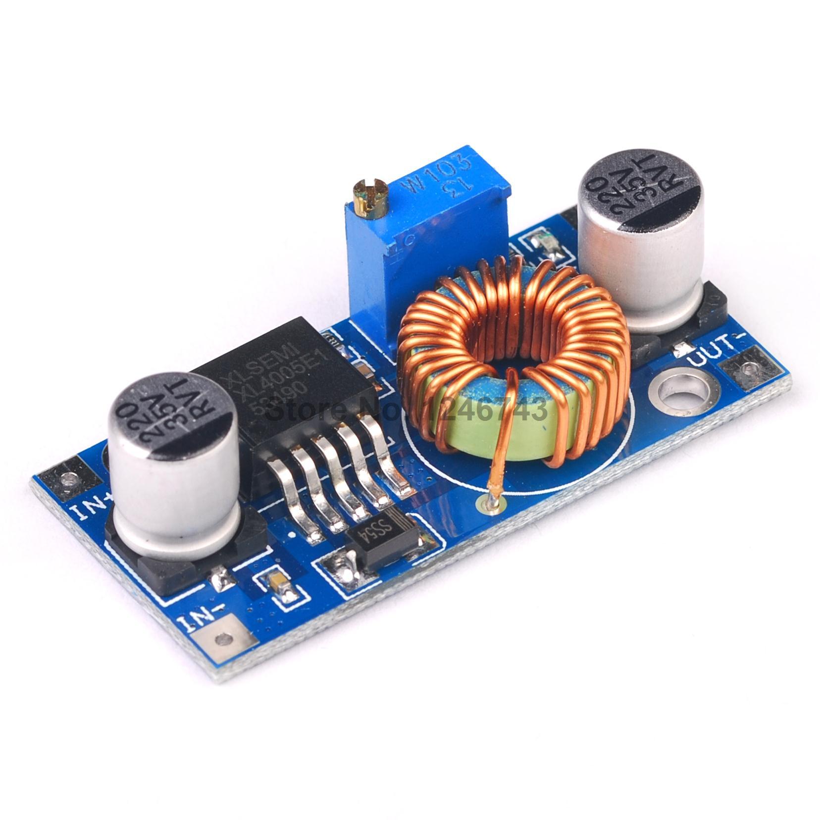 Verarbeitung Initiative 1 Stücke Xl4005 Dsn5000 Über Lm2596 Dc-dc Einstellbare Schritt-down Power Supply Module 5a Hohe Strom In High Power Exquisite