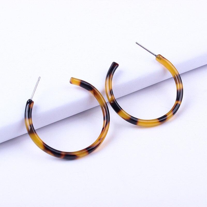 aiboduo Fashion Resin Earrings For Women Classic Vintage Statement Big Geometric Acrylic Dangling Earring Female Jewelry E00018 in Drop Earrings from Jewelry Accessories