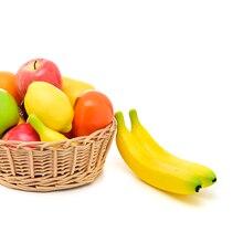 1 шт. рождественские искусственные фрукты, банан, искусственные фрукты, когнитивные учебные материалы, EVA пластик, магазин фруктов, демонстрационный декор для свадьбы