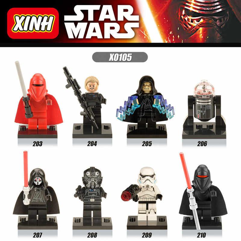 1pcs Star Wars De Laatste Jedi Yoda Obi-Wan Darth vader Storm Bouwsteen Compatibel met LegoINGlys Starwars gift Speelgoed Voor Kid