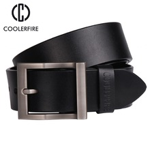 Coolerfire mens genuine leather belt designer belts men luxury strap male for fashion  pin buckle jeans HQ0231
