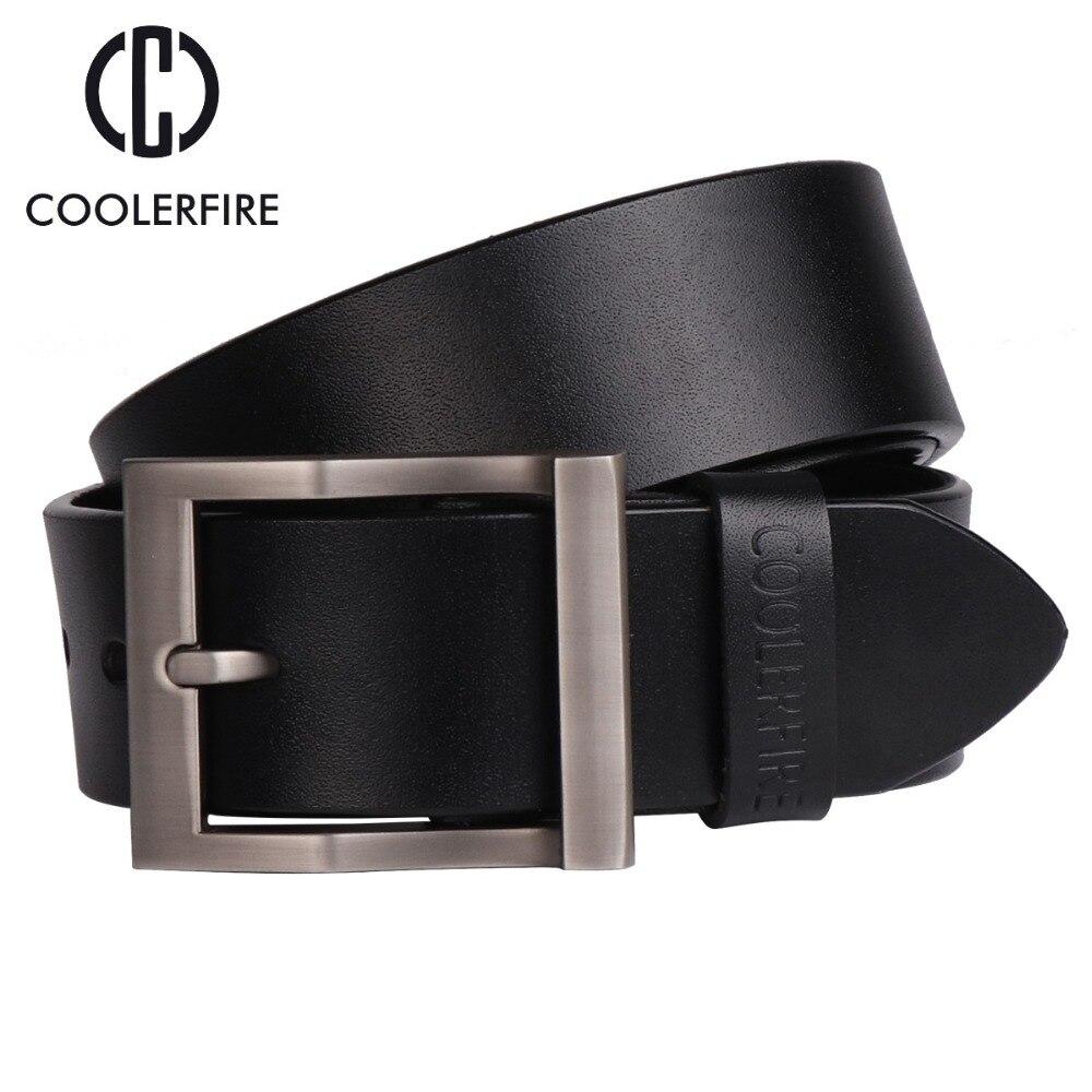 Coolerfire men's genuine leather   belt   designer   belts   men luxury strap male   belts   for men fashion pin buckle for jeans HQ0231