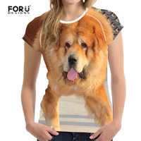 FORUDESIGNS Women Tshirt 3d Animal Dogs Funny 2017 Short Sleeves Lady Girls T Shirt Printed Tee