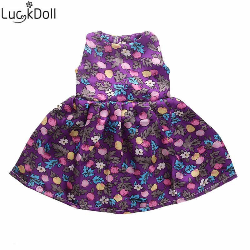 Luckydoll yeni ipek kumaş bebek gece elbisesi için uygundur 18 inç amerikan oyuncak bebek veya 43 cm bebek bebek aksesuarı oyuncak.