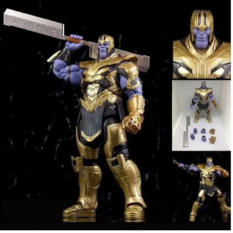 7inch 2019 Movie Marvel Avengers 4 Endgame Thanos PVC Action Figure Collectible Model Toys