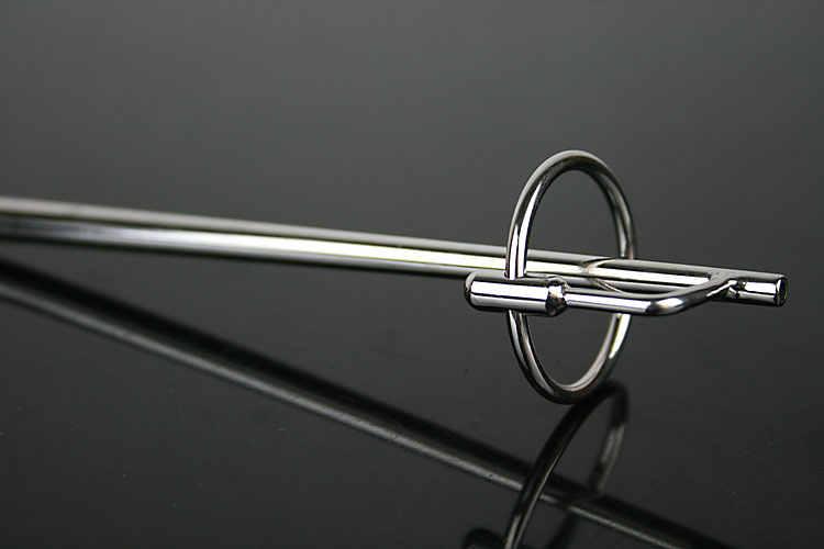Bouchon urétral en acier inoxydable de qualité supérieure avec anneau de pénis, son urétral lisse/dilatateurs jouets sexuels pour hommes