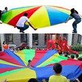 1 unids 1.8 M 3 M 3.5 M 4 M 5 M Niño Deportes Al Aire Libre Paraguas Del Arco Iris Paracaídas de Juguete Juguetes para Los Niños de Formación en Cooperación Color Al Azar