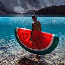 Watermelon Inflatable Pool Float Swimming Ring for Adults Women Giant Swimming Float Air Mattress Buoy Beach Toys Fun 160 giant inflatable beach emoji pool float swimming ring water toy inflatable glasses emoji float for women emoji air mattress