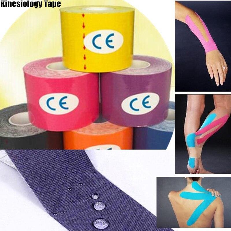 300 P X 5 м Спортивной Кинезиологии Клейкие ленты локоть Kinesio ролл хлопок эластичный клей Мышечные бинты штамм травмы Поддержка мышц наклейки