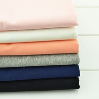 1 65M 0 9M DIY Multicolor Cotton Knit Fabric High Elastic Solid Color Fabric Breathable And