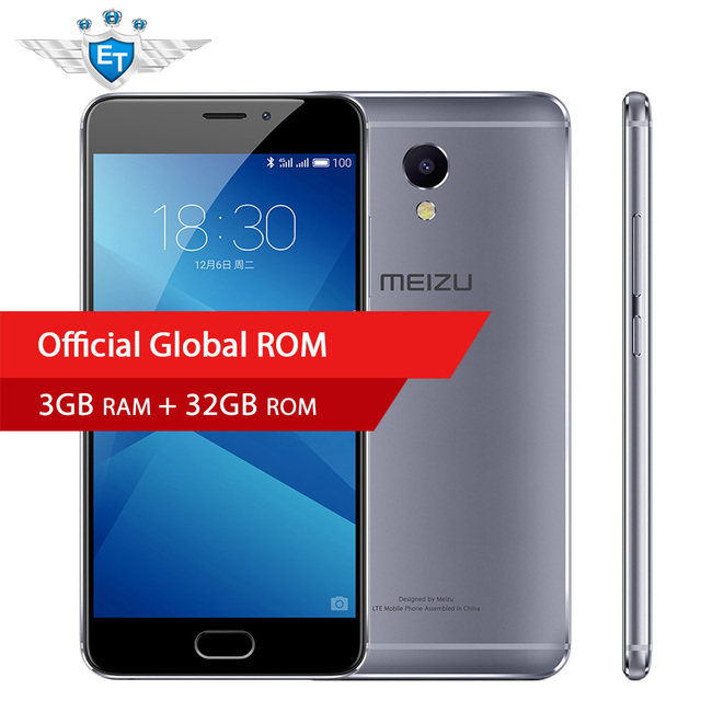 Оригинал Meizu M5 Примечание 3 ГБ 32 ГБ 4000 мАч Octa Core 5.5 ''1080 P helio P10 FDD 4 г LTE 13MP отпечатков пальцев ID мобильного телефона Android 6.0
