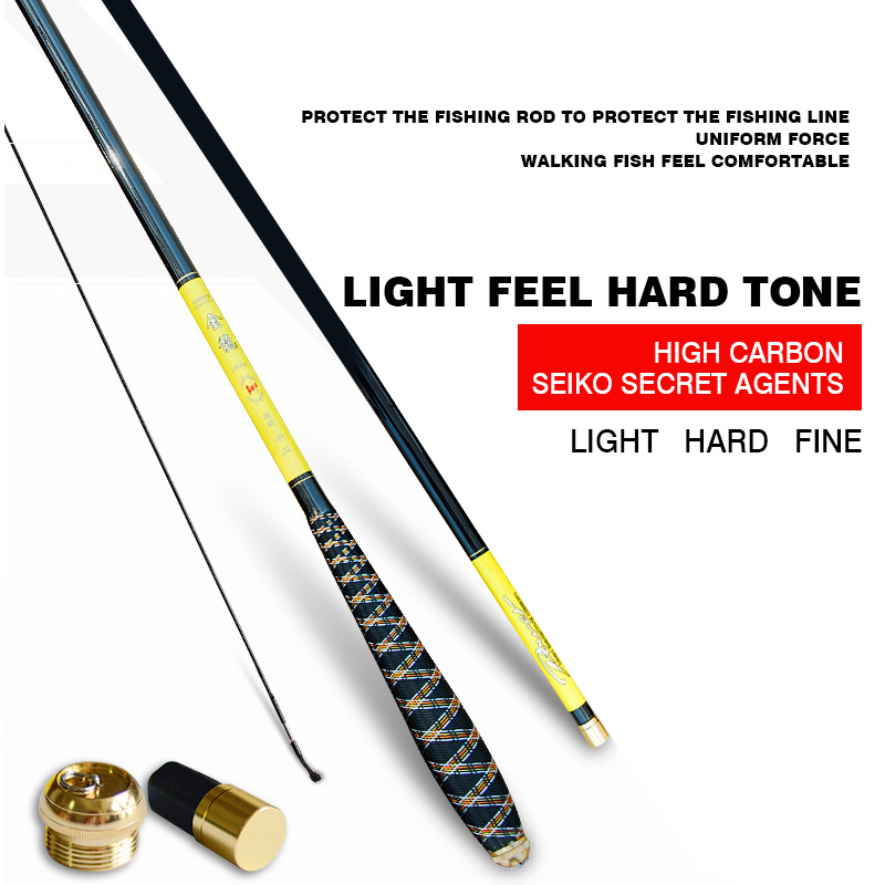 Buy Special rod of hard carbon rods ultralight 4.5 meters high, 5.4 meters hand rod rod carp carp fishing gear for $208.00 in AliExpress store