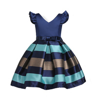 Baby Mädchen Prinzessin Kleid Kinder Streifen Fliegenhülse für Kleinkind Kinder Europäischen Amerikanische Mode Kleidung kinder Vestidoes